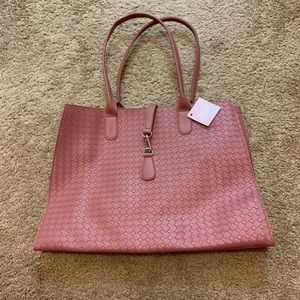Dusty Rose Shoulder Tote Bag